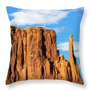 Butte And Clouds Throw Pillow