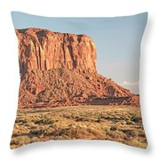 Butte, Monument Valley, Utah Throw Pillow