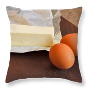 Butter And Eggs Throw Pillow