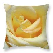Butter Rose Throw Pillow