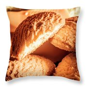 Butter Shortbread Biscuits Throw Pillow