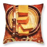 Butter Since Sliced Bread Display Throw Pillow