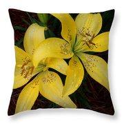 Buttercream Lilies Throw Pillow