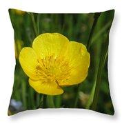 Buttercup Flower Throw Pillow