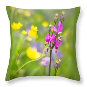 Buttercups And Shooting Star 1 Throw Pillow