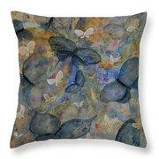 Butterflies And Fairies Throw Pillow