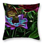 Butterflies And Flowers IIi Throw Pillow