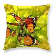 Butterflies Throw Pillow by Ankeeta Bansal