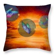 Butterflies At Night Throw Pillow