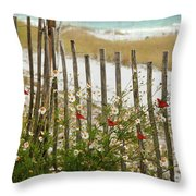 Butterflies By The Seashore Throw Pillow
