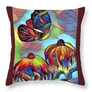 Butterflies For Children 1 Throw Pillow
