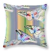 Butterflies In The Vortex Throw Pillow