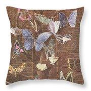 Butterflies On A Tree Throw Pillow