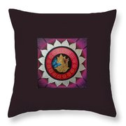 Butterflies On The Pink Lotus Throw Pillow