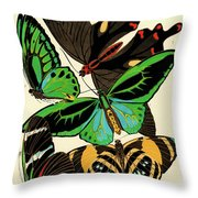 Butterflies, Plate-1 Throw Pillow