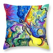 Butterfly 01. Science And Its Progress  Throw Pillow