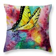 Butterfly 2 Throw Pillow by Dee Carpenter