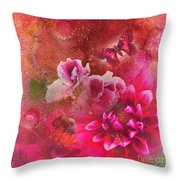 Butterfly And Bee Throw Pillow