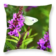 Butterfly And Bouquet Throw Pillow