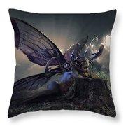 Butterfly And Caterpillar Throw Pillow