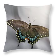 Butterfly At Picnic Throw Pillow