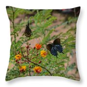 Butterfly Ballet Throw Pillow