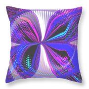 Butterfly Behind The Scenes Throw Pillow