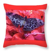Butterfly Blues - Constable  Throw Pillow