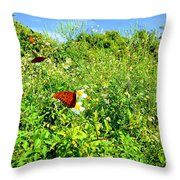 Butterfly Bonanza Throw Pillow