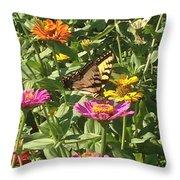 Butterfly Breakfast Throw Pillow