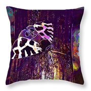 Butterfly Brown Bear Drawing Wing  Throw Pillow
