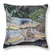 Butterfly Brunch Throw Pillow