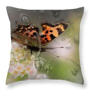Butterfly Bubbles Throw Pillow