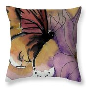 Butterfly Collecting Throw Pillow
