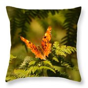 Butterfly Comma Throw Pillow