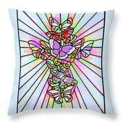 Butterfly Cross Throw Pillow