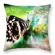 Butterfly Daydream Throw Pillow