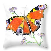 Butterfly Dressed For A Masquerade Ball Throw Pillow