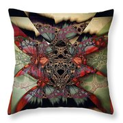 Butterfly Effect 2 / Vintage Tones  Throw Pillow