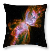 Butterfly Emerges From Stellar Demise Throw Pillow