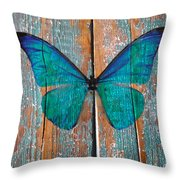 Butterfly Exhibition 1 Throw Pillow