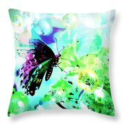 Butterfly Fantasty Throw Pillow
