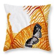 Butterfly Fern Throw Pillow