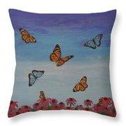 Butterfly Field Throw Pillow