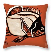 Butterfly Fish In Watercolor Throw Pillow