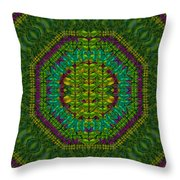 Butterfly Flower Jungle And Full Of Leaves Everywhere  Throw Pillow