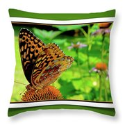 Butterfly For Earth Day Throw Pillow