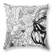 Butterfly Garden Throw Pillow