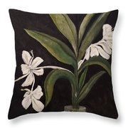 Butterfly Gingers Throw Pillow