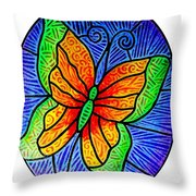 Butterfly Glory Throw Pillow
